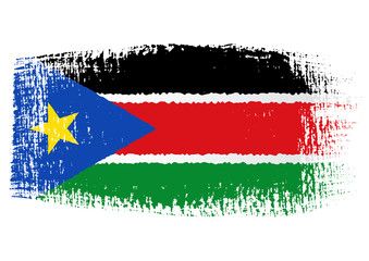brushstroke flag South Sudan