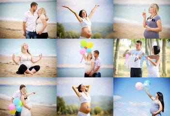 collage of pregnant.