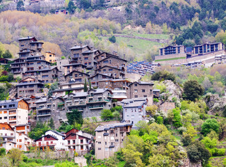 City at mountains.   Andorra la Vella