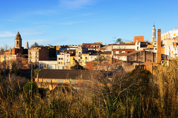 General view of Valls in winter. Tarragona