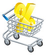 Percent rate shopping cart