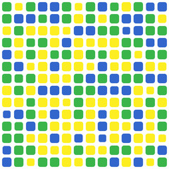 abstract mosaic background using brazil flag colors