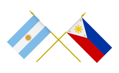 Flags, Argentina and Philippines