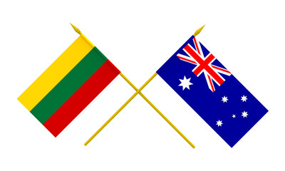 Flags, Lithuania and Australia