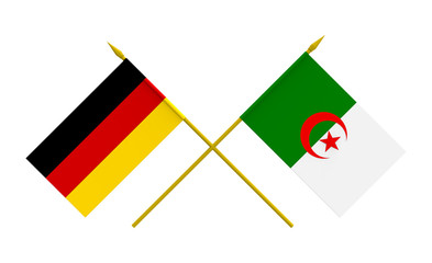 Flags, Germany and Algeria