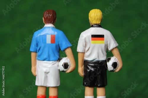 canvas print picture Deutschland vs Frankreich