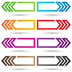 Vector Colored Arrows