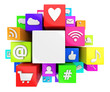 canvas print picture - Social media symbols