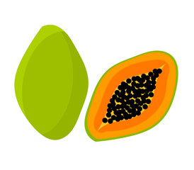 Papaya fruit icon