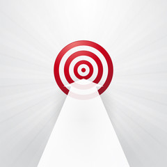 red target with a white arrow