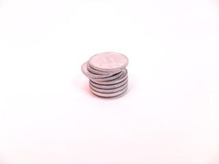 積み上げた硬貨