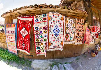 Bulgarian traditional handmade carpets