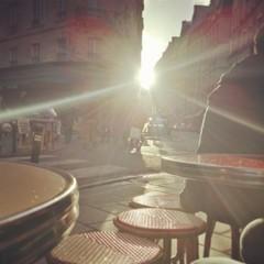 Paris en terrasse d'un café