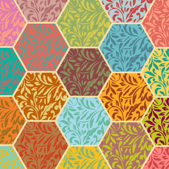 polygonal flower pattern