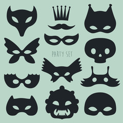 carnival mask and disguises vector illustration