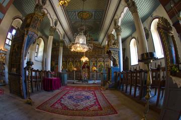 Interior rural church in Bulgaria