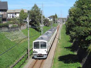 多摩川線の白い電車