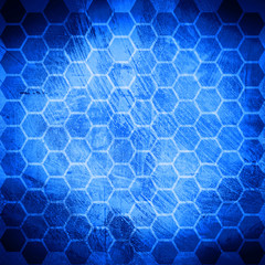 blue grunge honeycomb