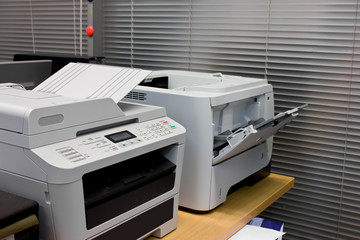 printer document in office equipment