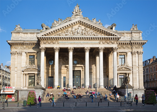 Fototapeta Brussels - The Stock Exchange of Brussels