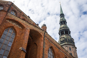 An old city. Riga, Latvia. Saint Peter's church. (horizontal).