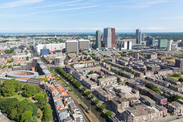 Aerial cityscape of The Hague, city of the Netherlands