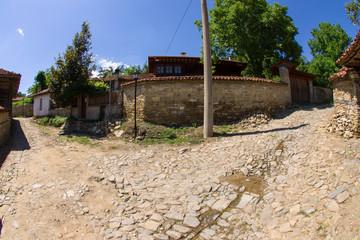 Crossroads in Balkan village