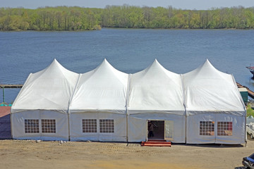 Big tent by the river