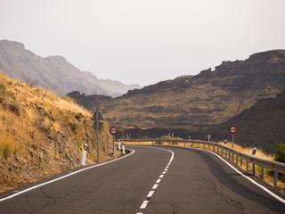 Gebirgssttraße auf Gran Canaria