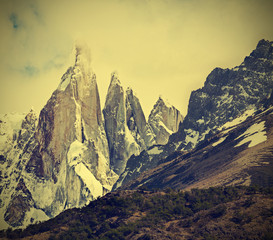 Cerro Torre Mountain in Los Glaciares National Park, Patagonia,