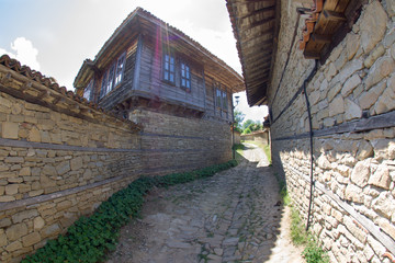Stone-wooden architecture Bulgarian village