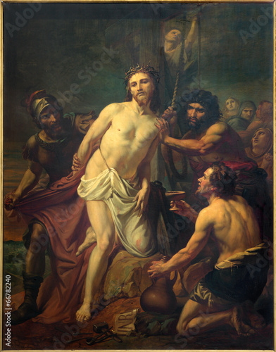 Brussels -  Jesus Stripped of His Garments paint - 66782240