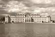 Belvedere, Vienna - sepia image
