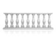 White balustrade