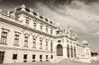 Belvedere palace - sepia image