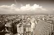 Vienna cityscape - sepia image