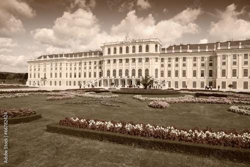 Vienna palace Schoenbrunn - sepia image
