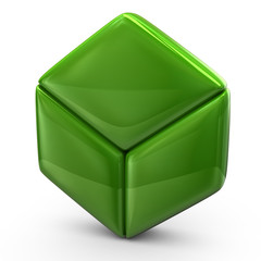 Illustration of green cube