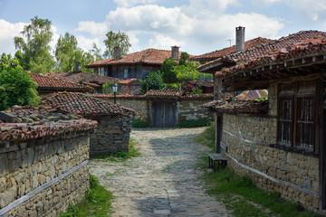 Stone Street in the Balkan village