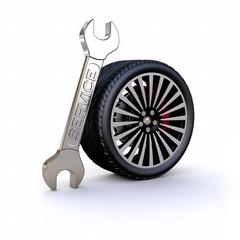 3D car tyre service