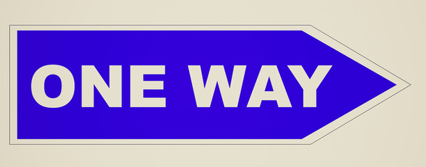 Retro look One way sign