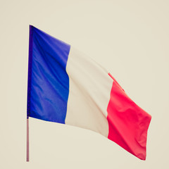 Retro look France flag