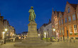 Leinwanddruck Bild - Bruges - Jan van Eyck memorial