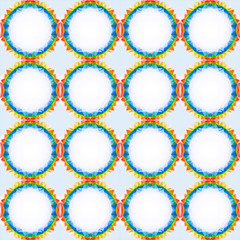 rainbow  seamless retro pattern