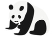 パンダのイラスト 左向き