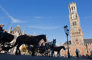 Bruges - The Carriage on the Grote Markt