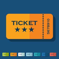 Flat design: ticket