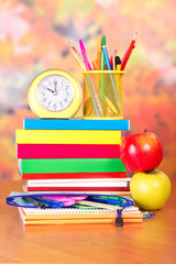 School books and stationery