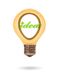 Green ideas innovation, eco bulb energy icon,  Concept of Eco te