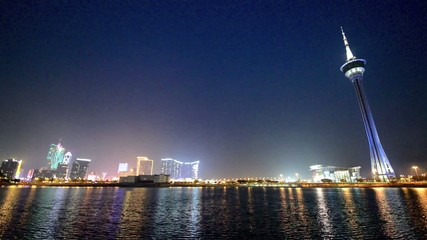 Stunning view  of Macau at night